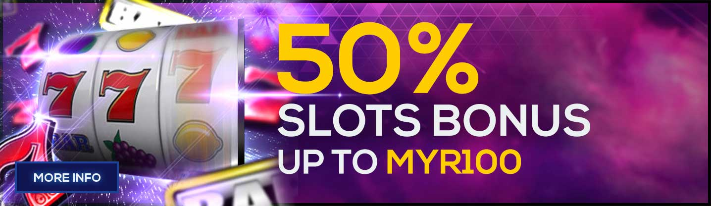Slots Game Welcome Bonus 50%
